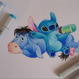 freetoedit drawing art stitch eeyore