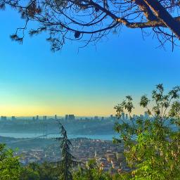istanbul turkey nightshot hdr blue freetoedit